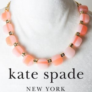 NWT Kate Spade Color Block Necklace Blush Pink